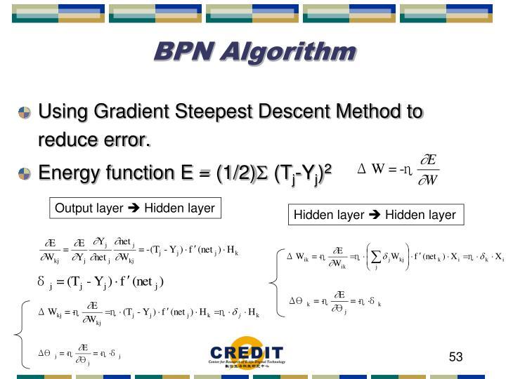 BPN Algorithm
