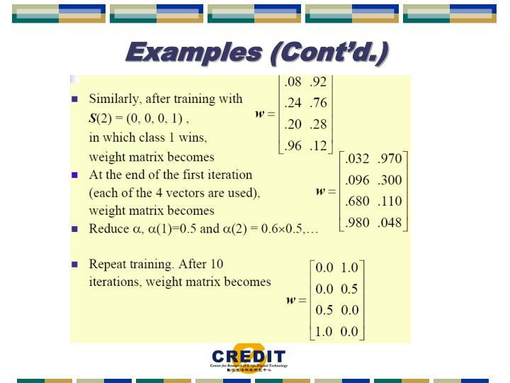 Examples (Cont'd.)