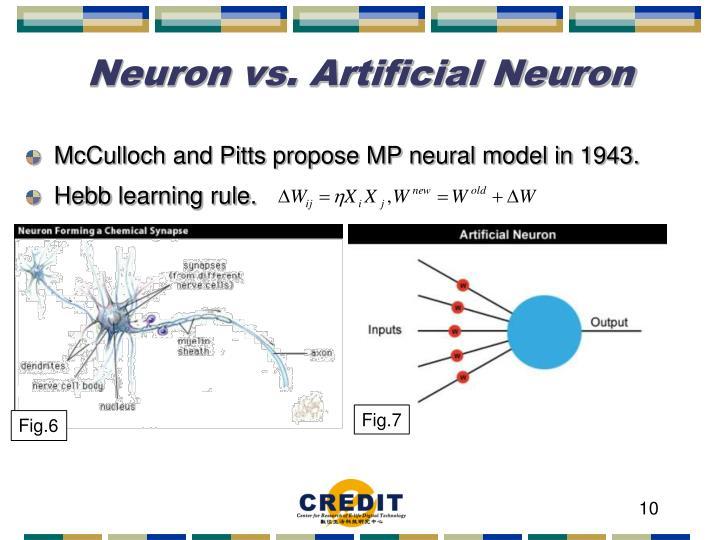 Neuron vs. Artificial Neuron