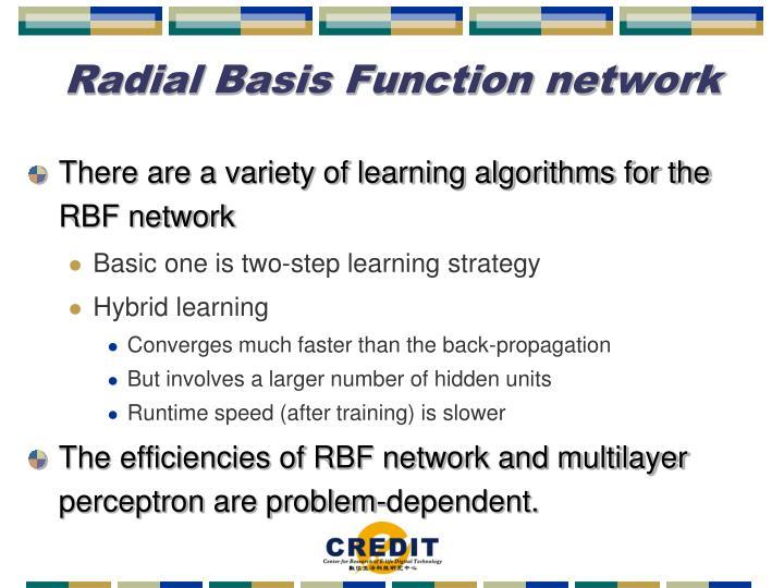 Radial Basis Function network