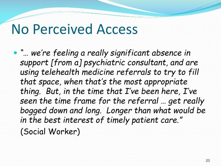 No Perceived Access