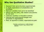 why use qualitative studies
