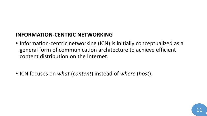 INFORMATION-CENTRIC