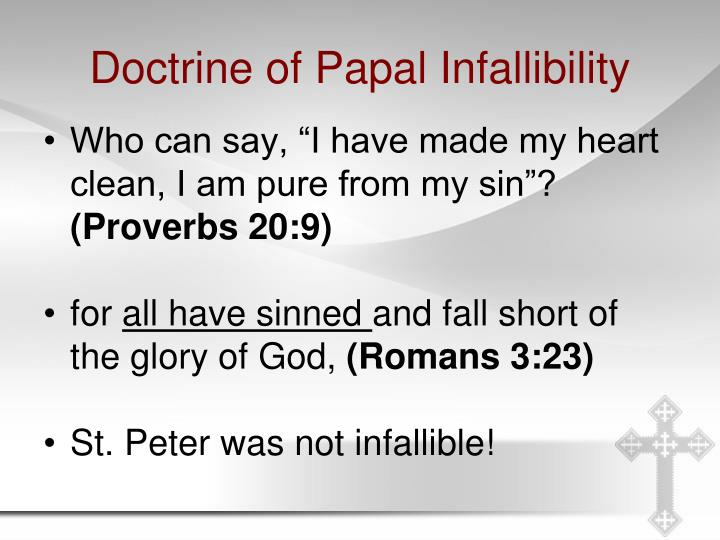 Doctrine of Papal Infallibility