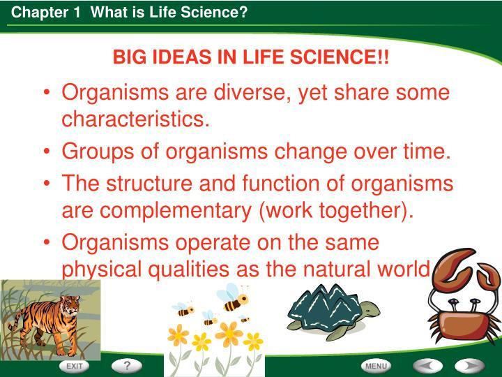 BIG IDEAS IN LIFE SCIENCE!!