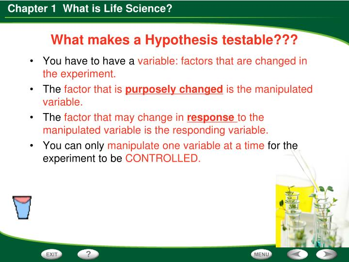 What makes a Hypothesis testable???