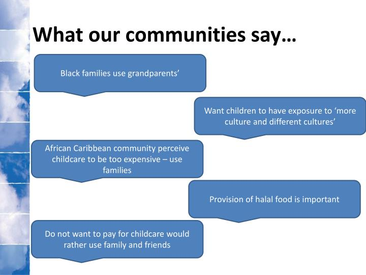 What our communities say…