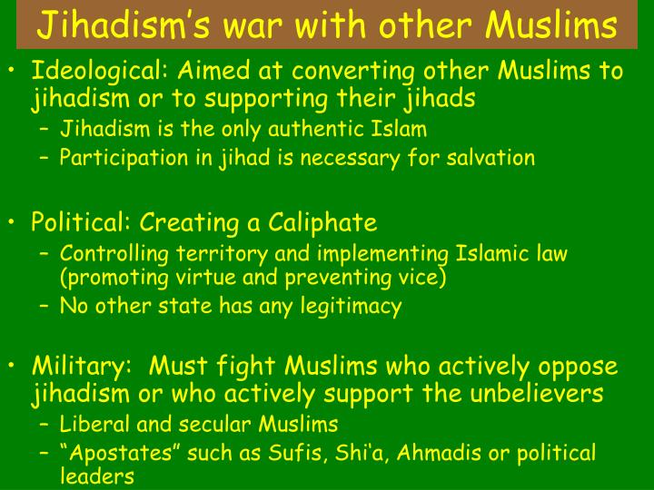 Jihadism's war with other Muslims