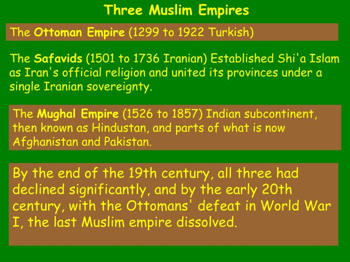 Three Muslim Empires