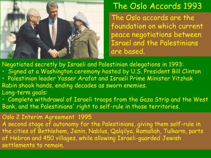 The Oslo Accords 1993