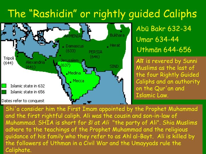 """The """"Rashidin"""" or rightly guided Caliphs"""
