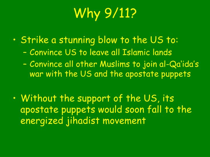 Why 9/11?