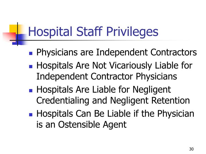 Hospital Staff Privileges
