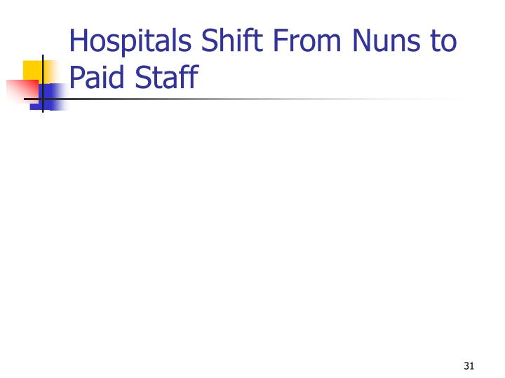 Hospitals Shift From Nuns to Paid Staff