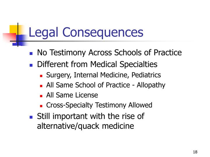 Legal Consequences