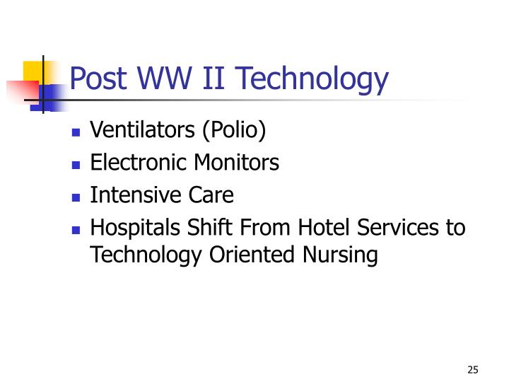 Post WW II Technology