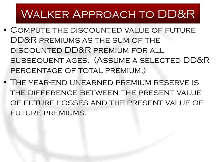 Walker Approach to DD&R