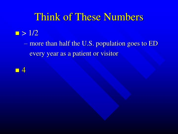 Think of These Numbers