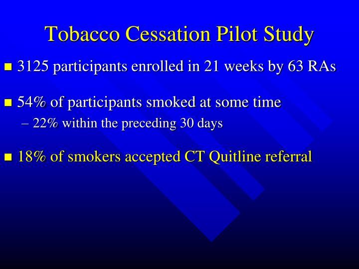 Tobacco Cessation Pilot Study