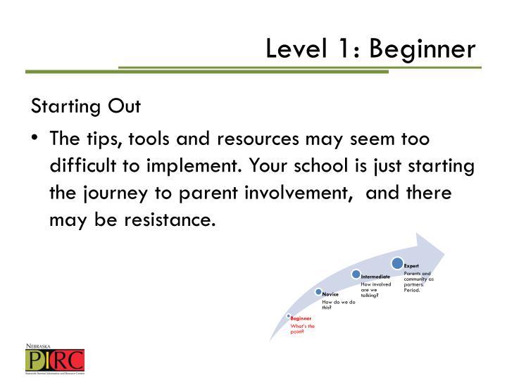Level 1: Beginner
