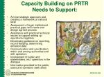 capacity building on prtr needs to support