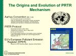 the origins and evolution of prtr mechanism1