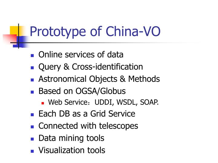 Prototype of China-VO