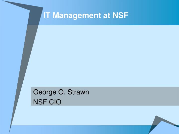 it management at nsf n.