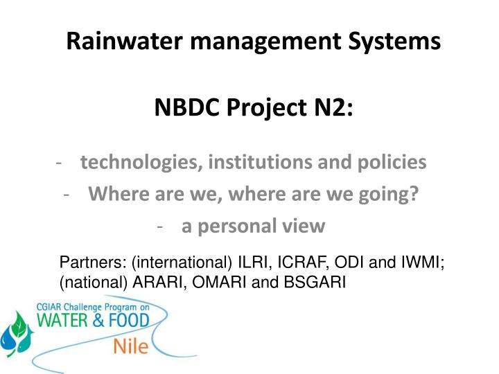 rainwater management systems nbdc project n2 n.