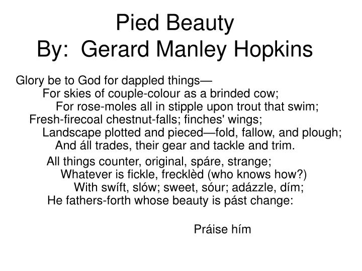 pied beauty by gerard manley hopkins essay (from the poem pied beauty by gerard manley hopkins) calligraphy  health  and fitness essay 66 best father gerard: his inscape's pied beauty images on.