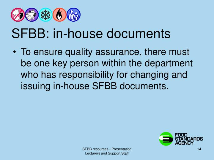 SFBB: in-house documents