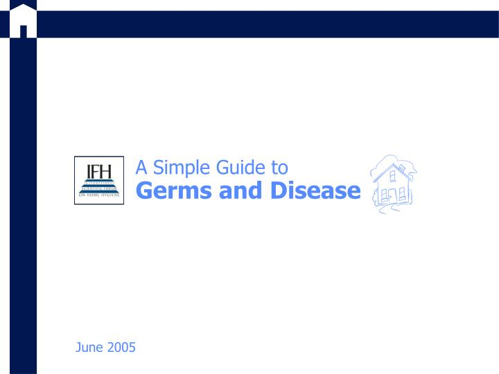 a simple guide to germs and disease n.