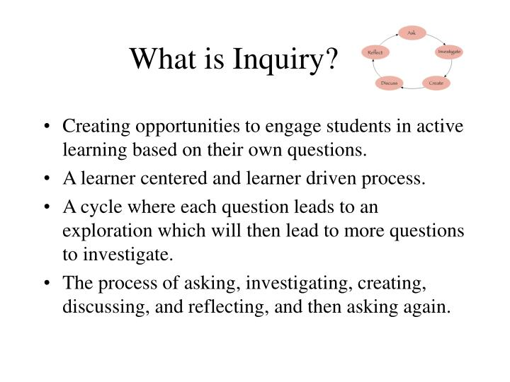 what is inquiry n.