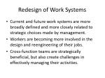 redesign of work systems