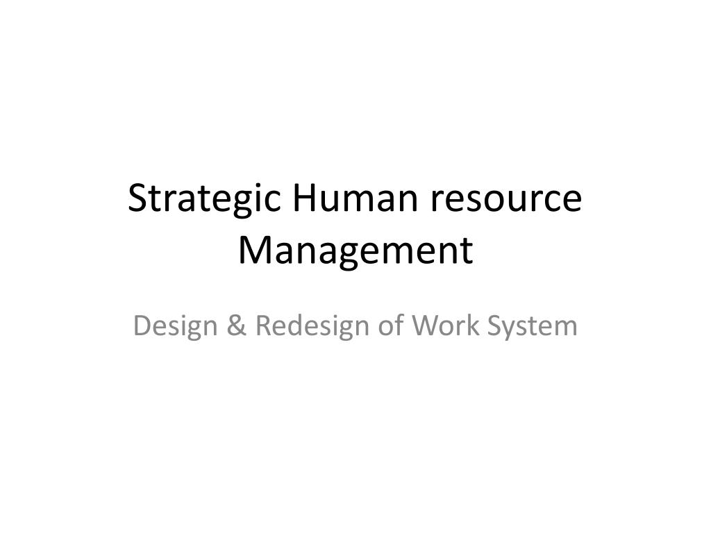 Ppt Strategic Human Resource Management Powerpoint Presentation Free Download Id 2410917