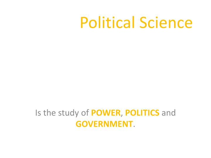 Political science1