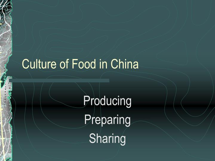 culture of food in china n.