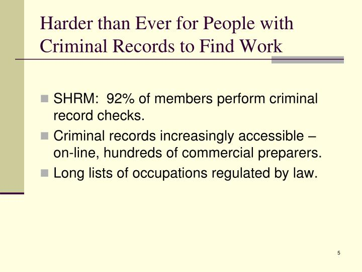 Harder than Ever for People with Criminal Records to Find Work