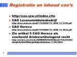 registratie en inhoud cao s