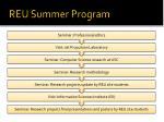 reu summer program