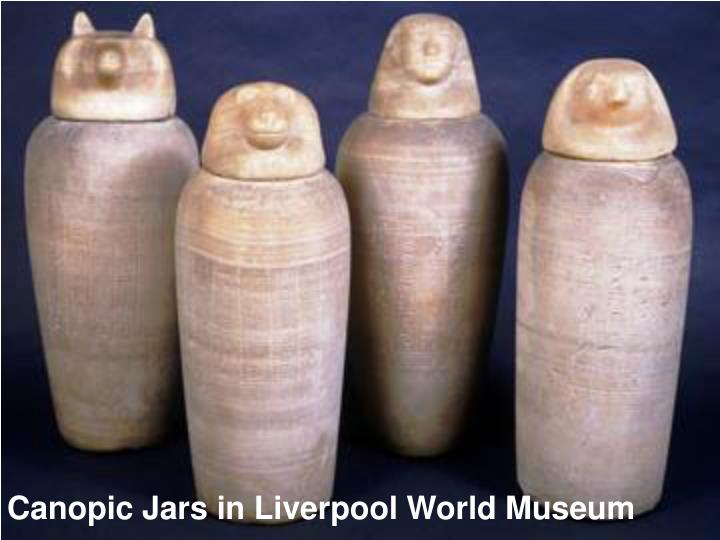 Canopic Jars in Liverpool World Museum