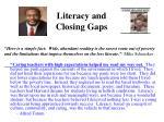 literacy and closing gaps