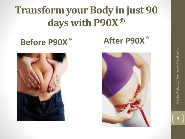 Transform your body in just 90 days with p90x1