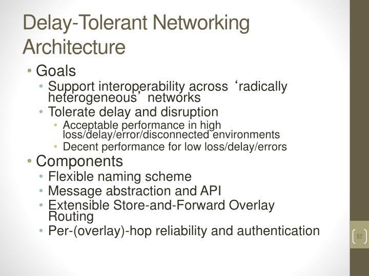 Delay-Tolerant Networking Architecture