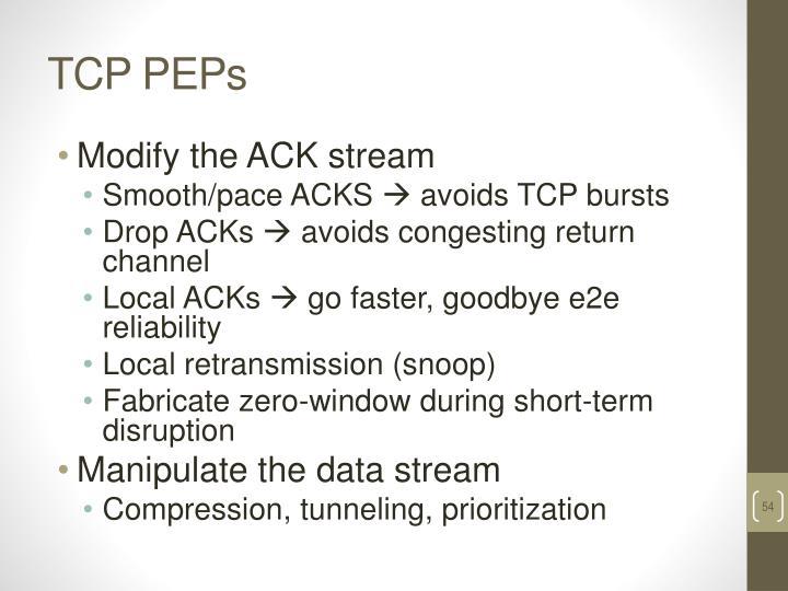 TCP PEPs