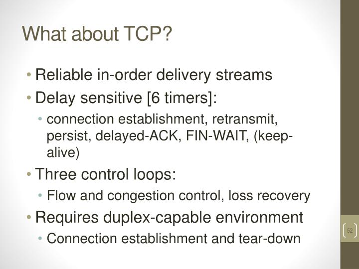 What about TCP?