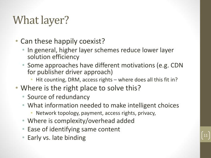 What layer?