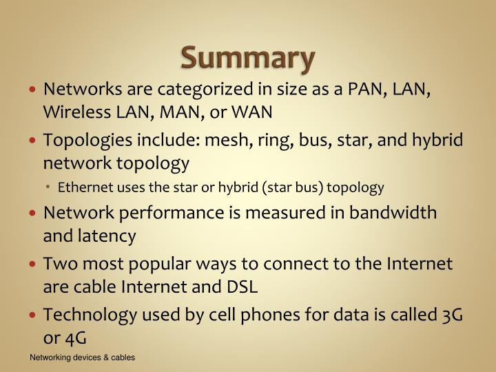 summary of network topology