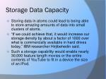 storage data capacity