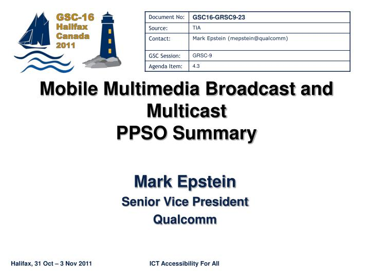 mobile multimedia broadcast and multicast ppso summary n.